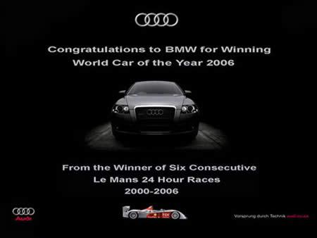 AUDI's response to BMW